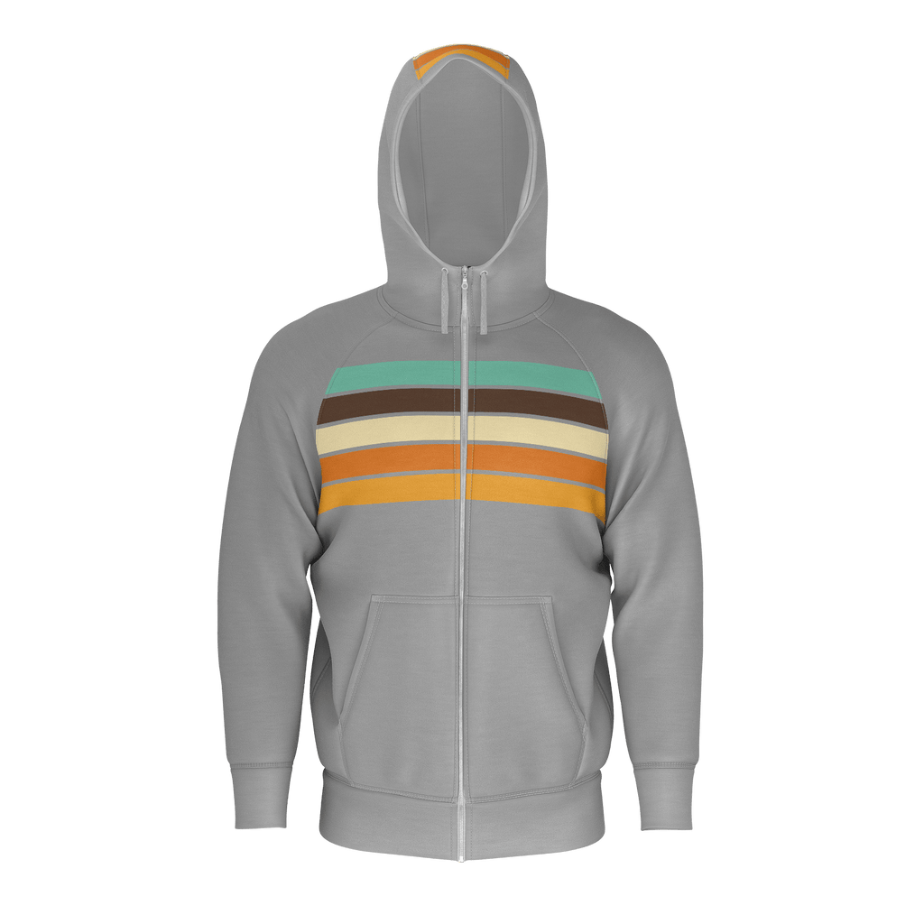 Retro Sunset Stripe Zip RPET Hoodie