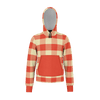 Vintage Red Plaid Kids Zip RPET Hoodie