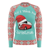 All I Want For Christmas Womens RPET Sweater Mint