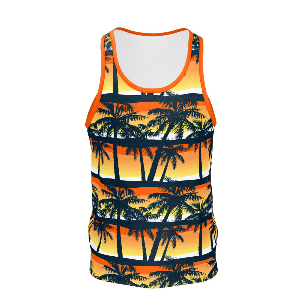 """Hawaiian Sunset"" Men's Pattern Tank"