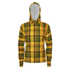 Retro Yellow Plaid Zip Hoodie lightweight V2