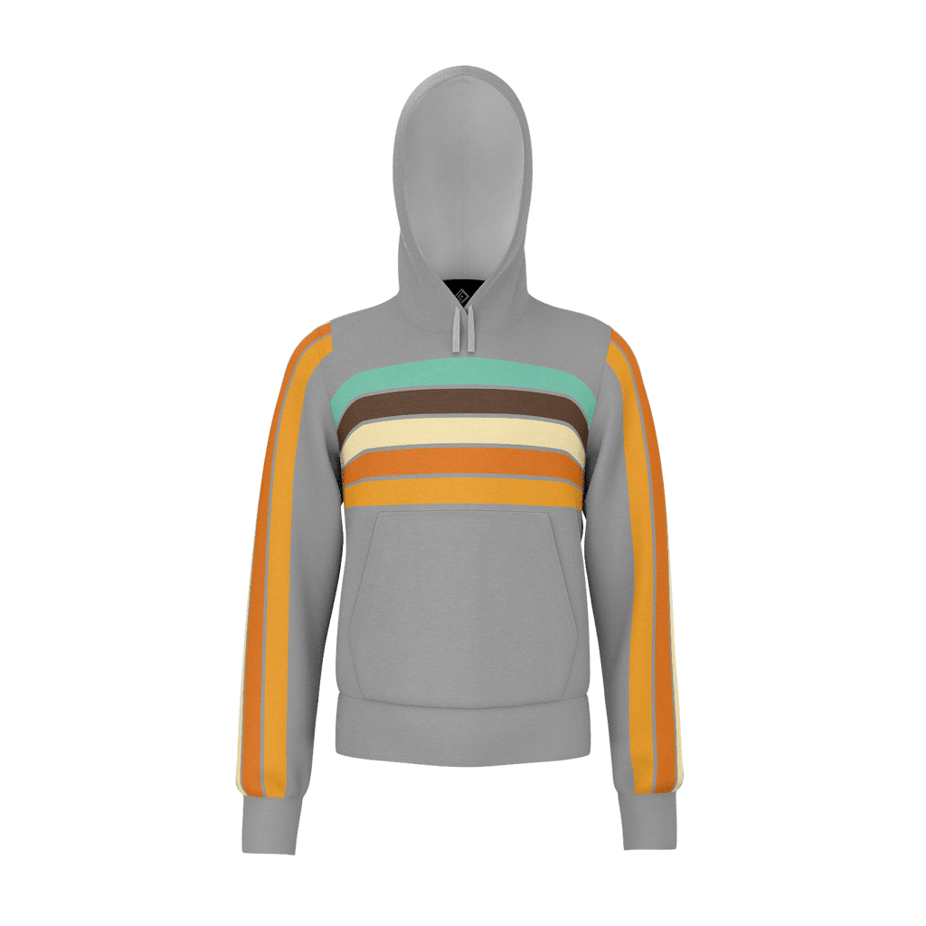 Retro Sunset Stripe Kids Zip RPET Hoodie