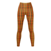 Retro Orange Plaid Leggings