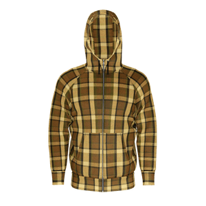 Westy Brown Plaid Zip Hoodie