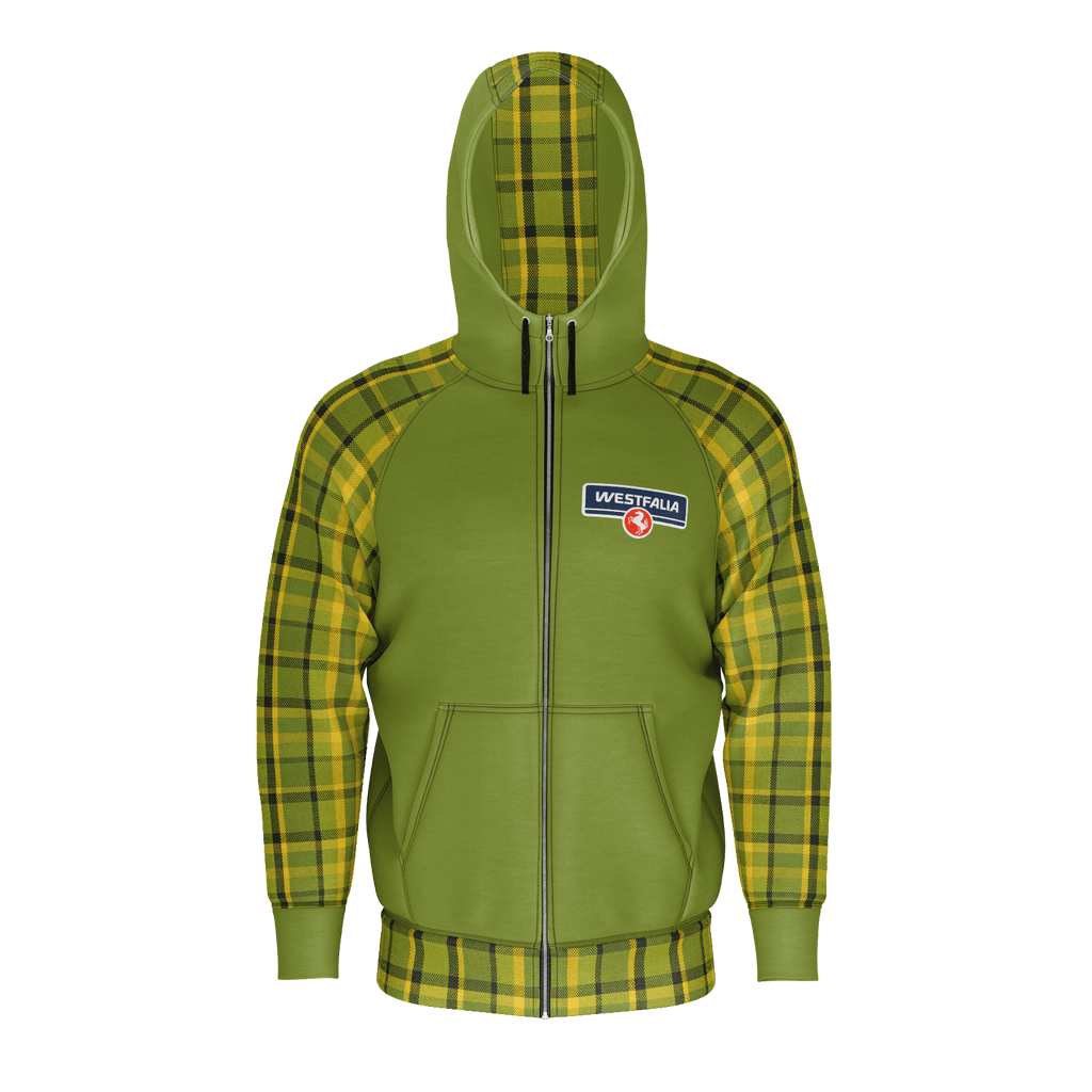 Westfalia Green Plaid Zip Hoodie