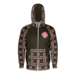 Bus Junkies Red Iron Cross Zip Hoodie