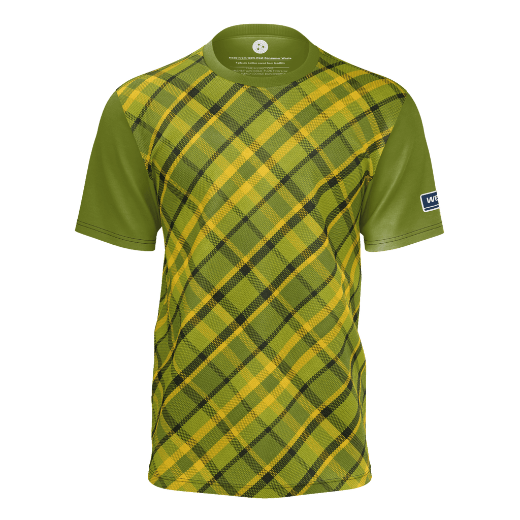 Westfalia Green Plaid RPET Mens Tee