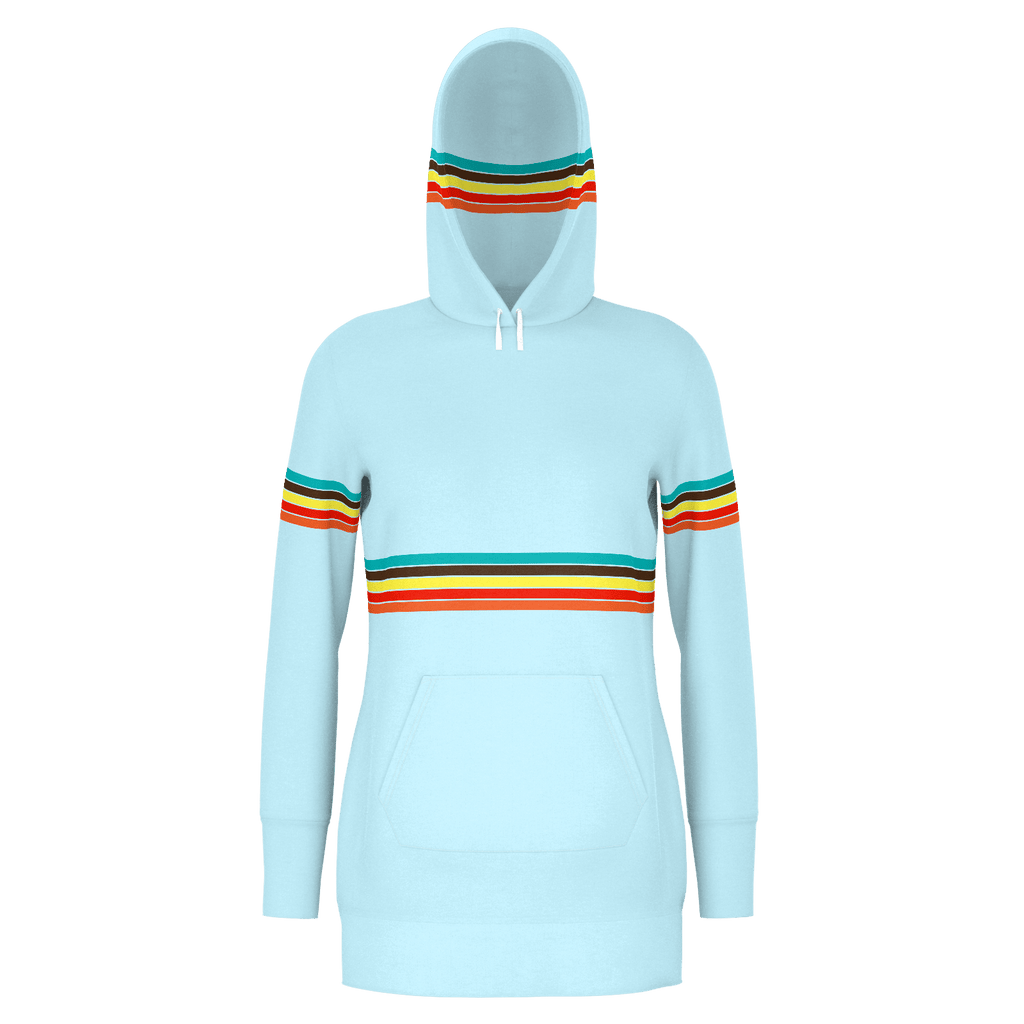 Retro Cruzer Stripes Women's Long RPET Hoodie
