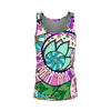 Trippy Retro Flower Womens Jersey Tank