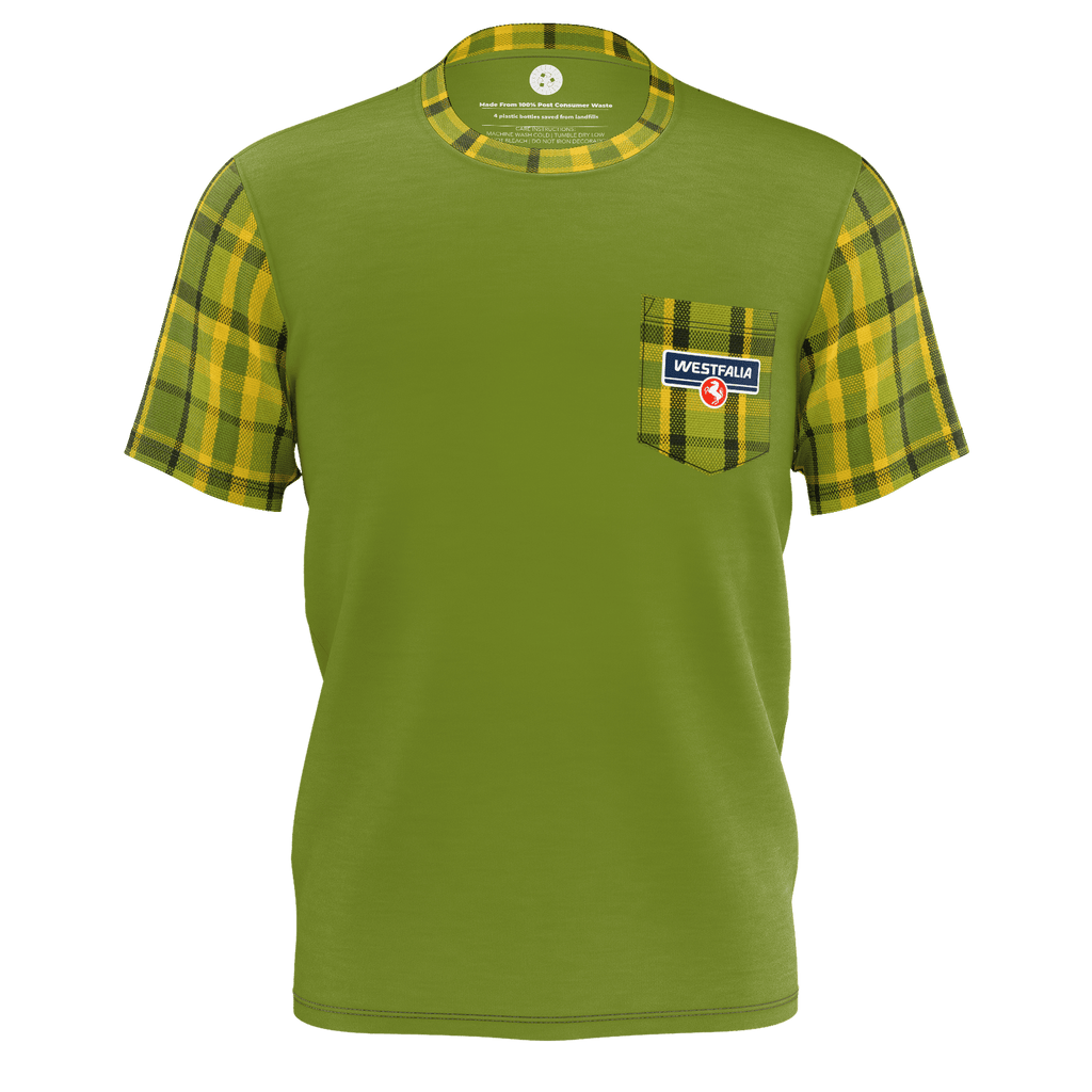 Westfalia Green Plaid Pocket Tee