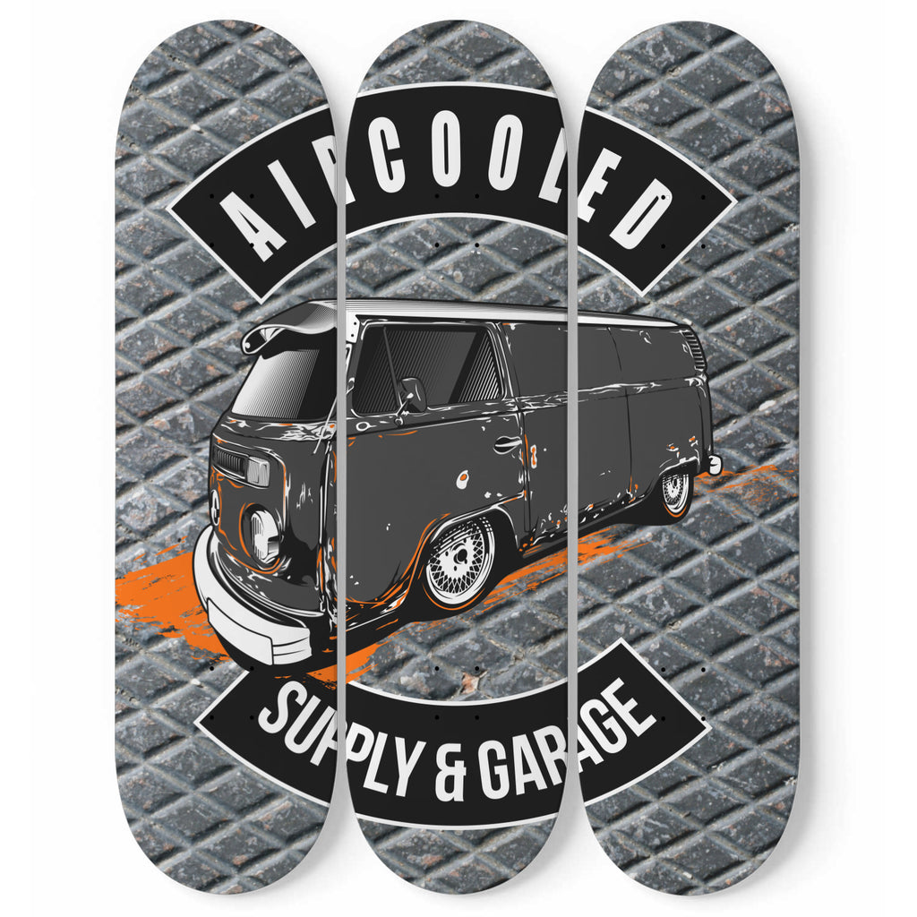 Aircooled Garage Custom Skateboard Wall Art