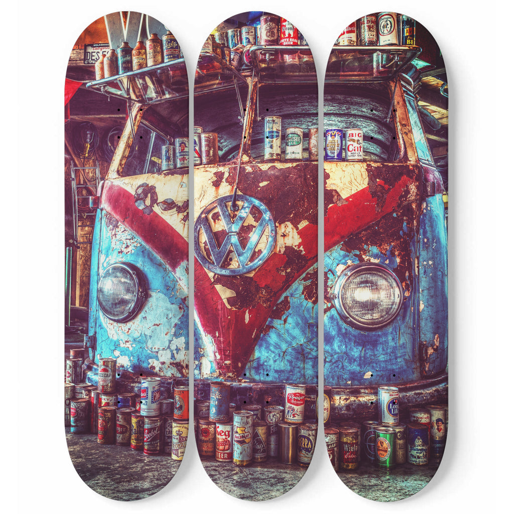 Aircooled Beer Fueled Custom Skateboard Wall Art