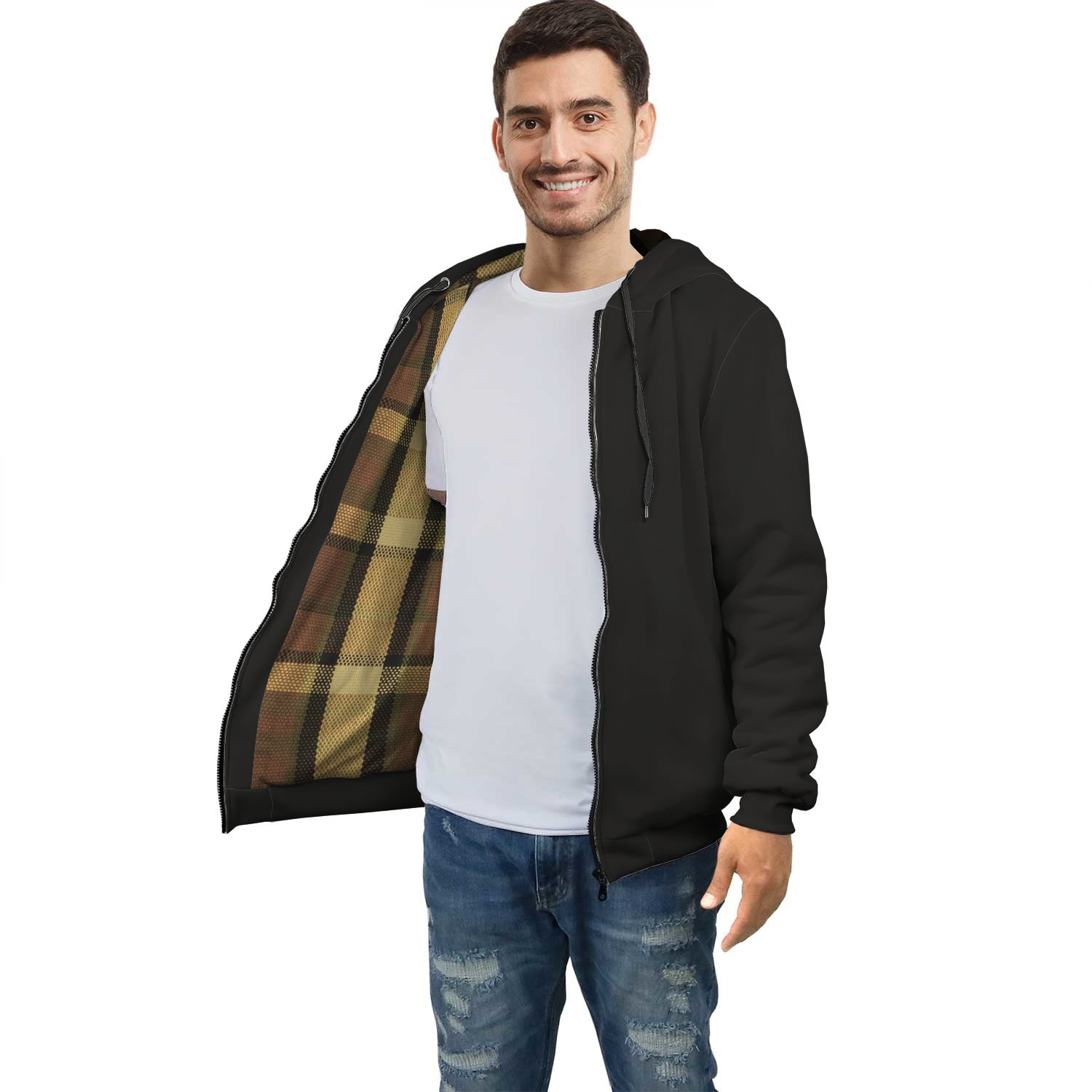 Limited Edition Westy Brown Plaid Racer Hoodie