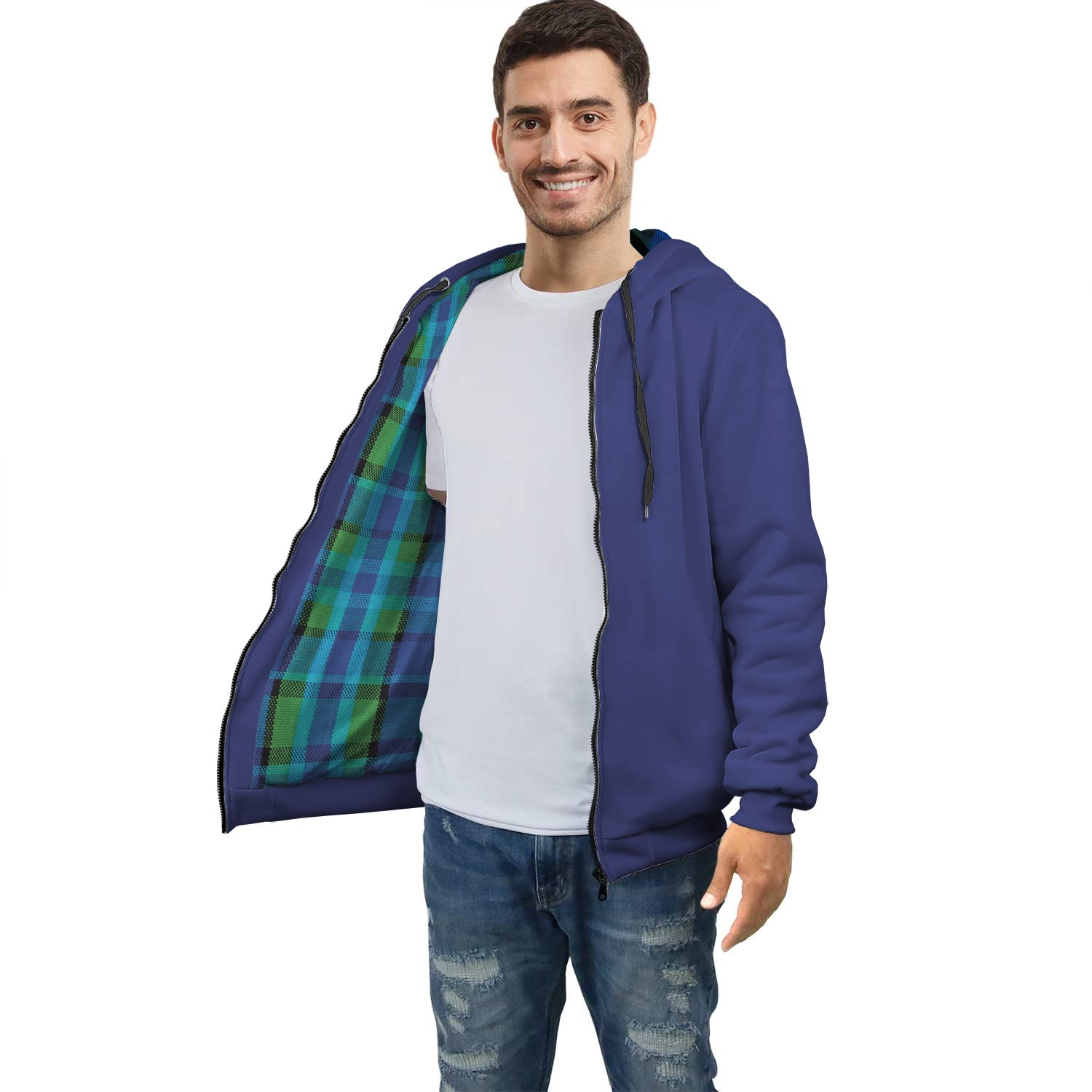 Limited Edition Westy Blue Plaid Racer Hoodie