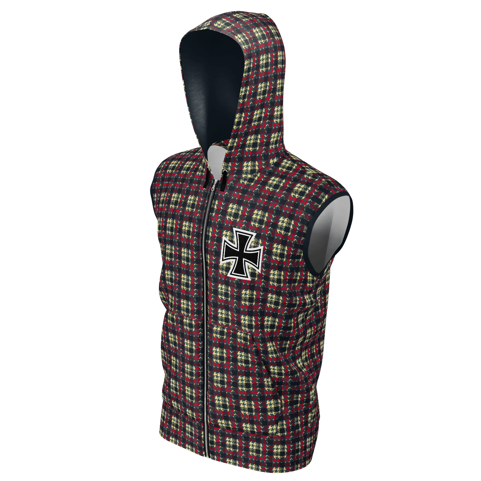 Klassic Iron Cross Sleeveless Hoodie