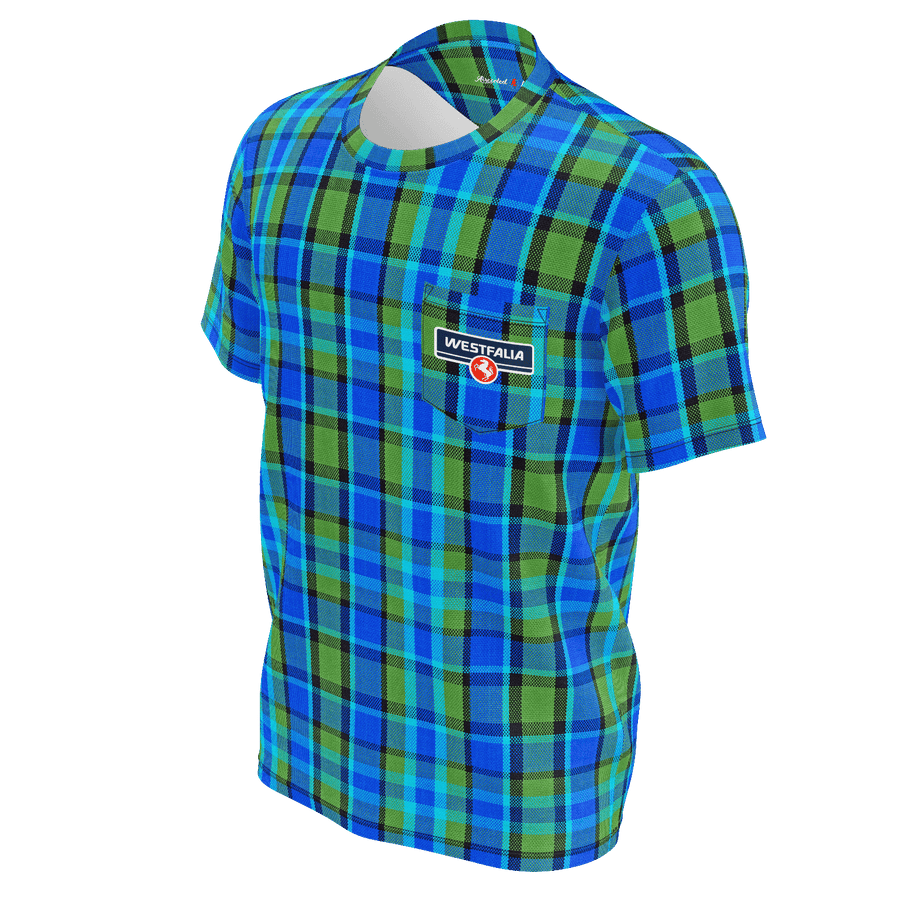 Westfalia Blue Plaid Pocket Tee