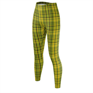 Retro Green Plaid Leggings