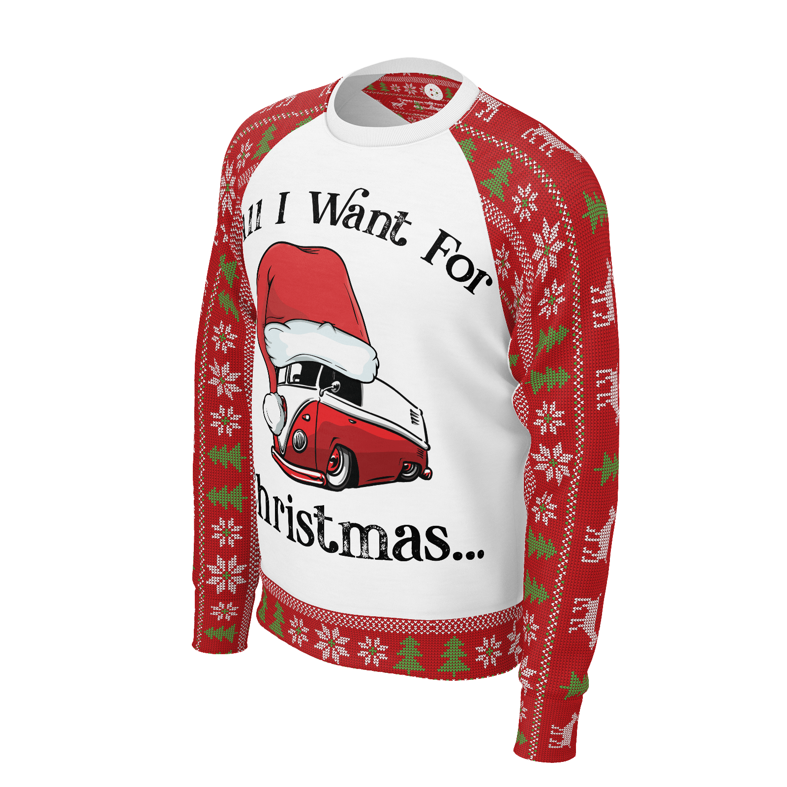 All I Want For Christmas Mens RPET Sweater White