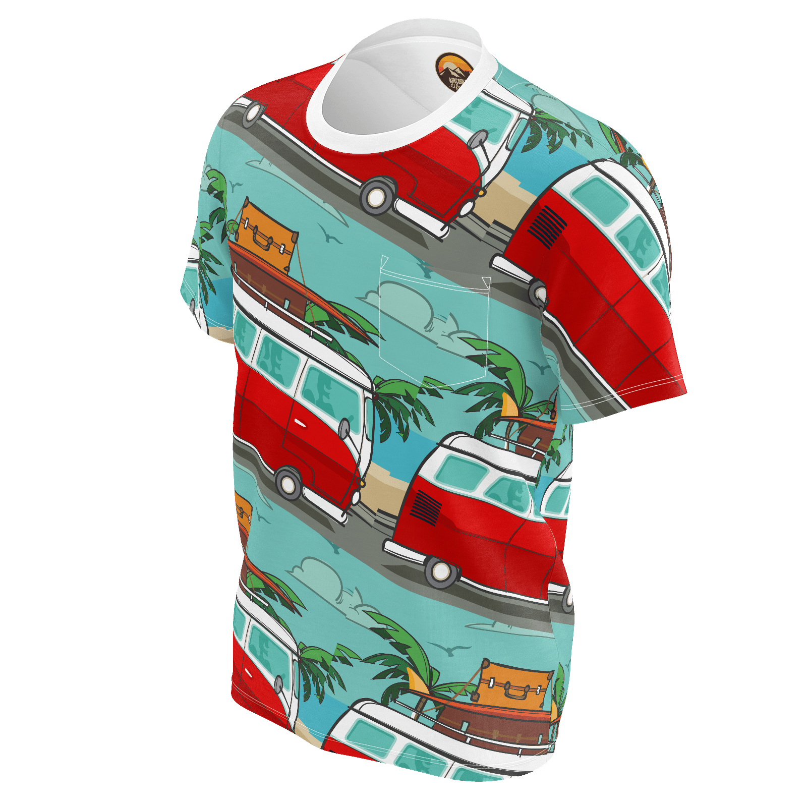 Surf Bus Tile T-shirt