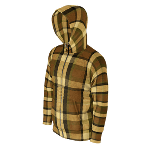 Westy Brown Plaid Zip Hoodie V2