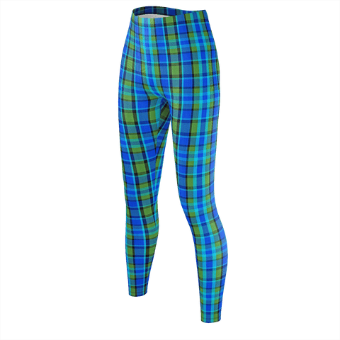 Retro Blue Plaid Leggings