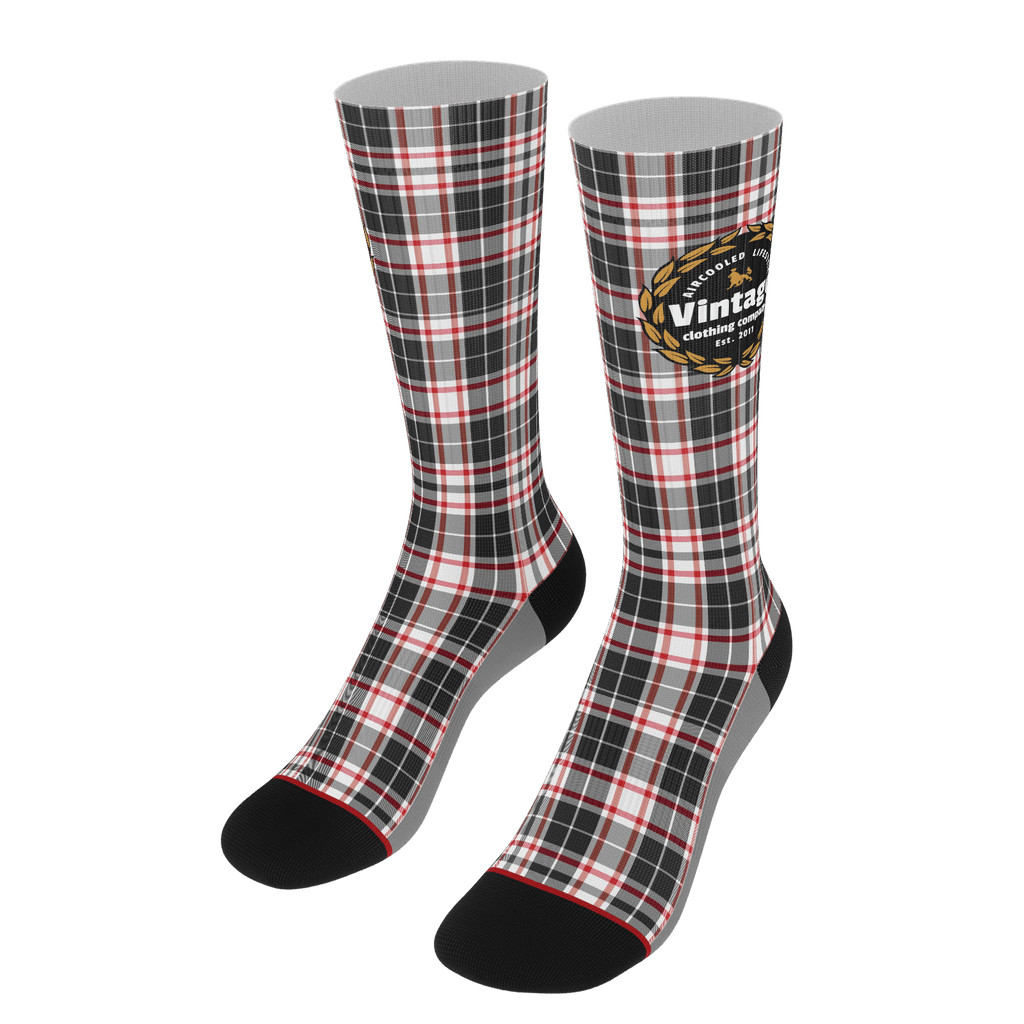 """Vintage Plaid"" Socks"