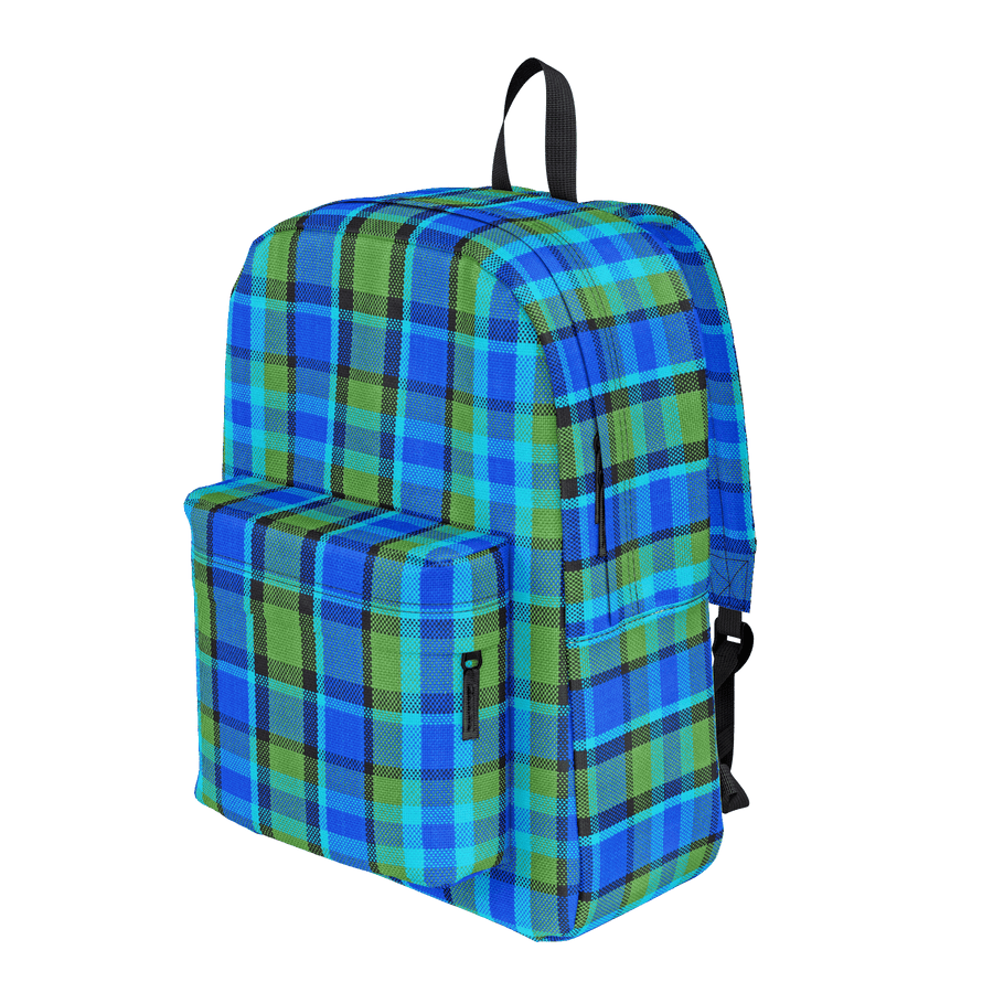 Westy Blue Plaid Backpack