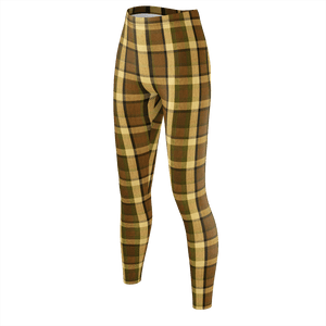 Retro Brown Plaid Leggings