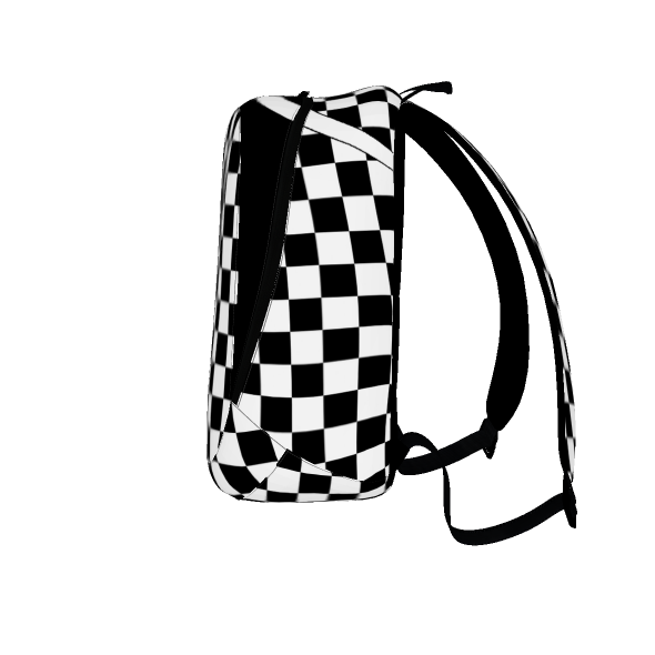 Checkered Cross Backpack