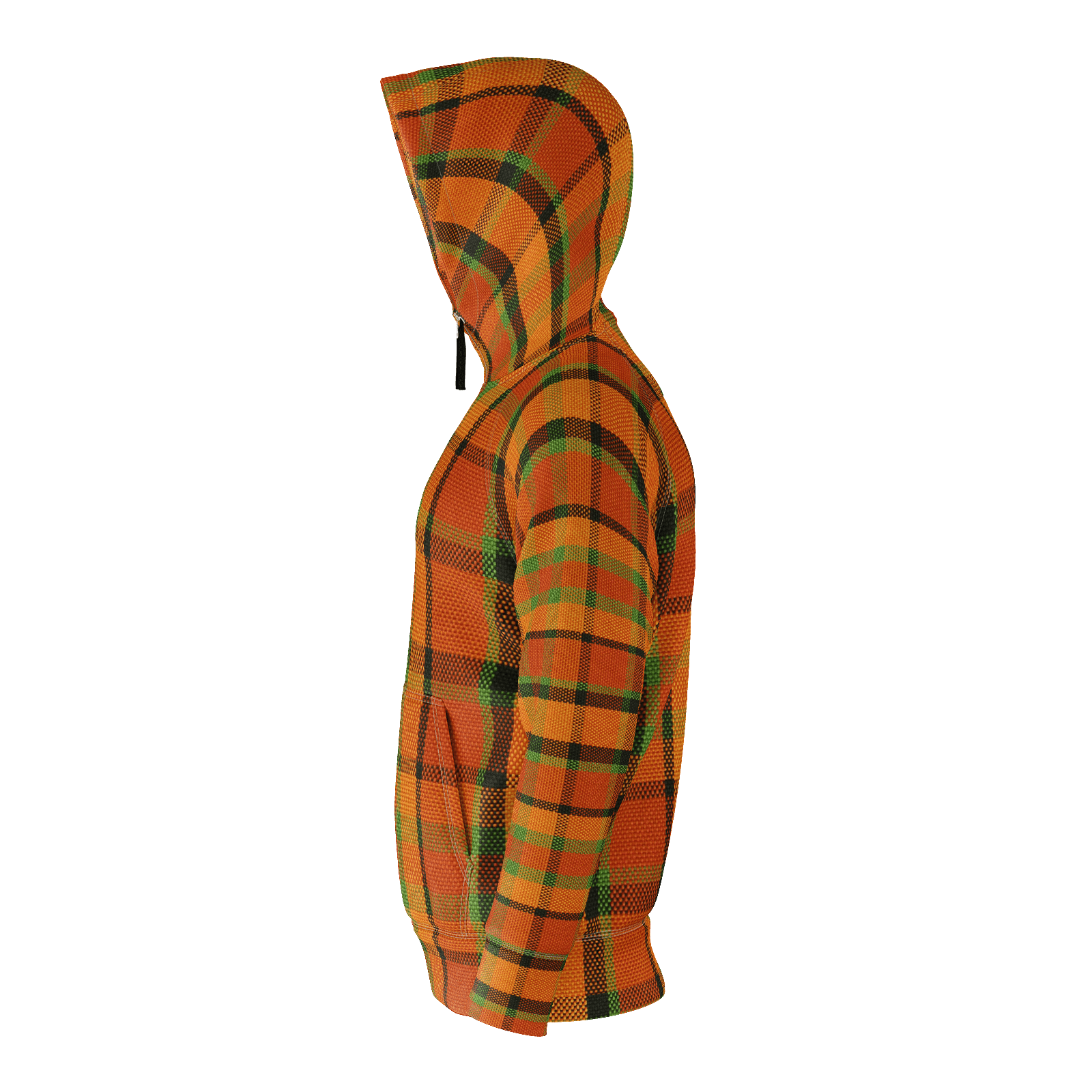 Westy Orange Plaid rPET Hoodie