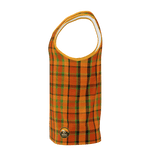Retro Orange Plaid Men's Tank Top