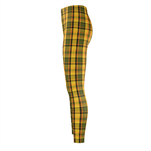 Retro Yellow Plaid Leggings