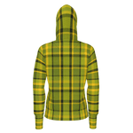 Women's Green Plaid Heavyweight Pullover Hoodie