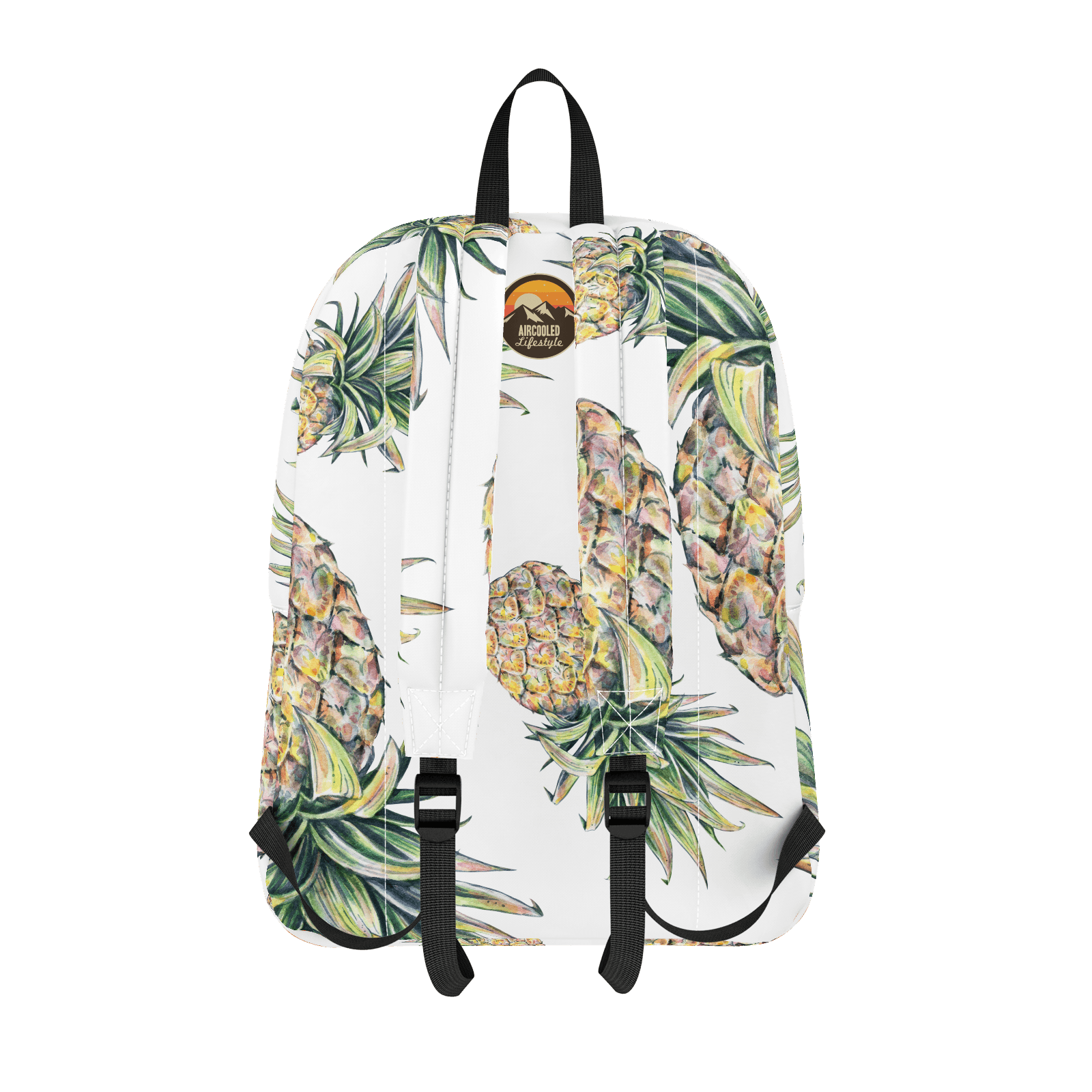 """PINEAPPLES"" Tropical Pattern Backpack"