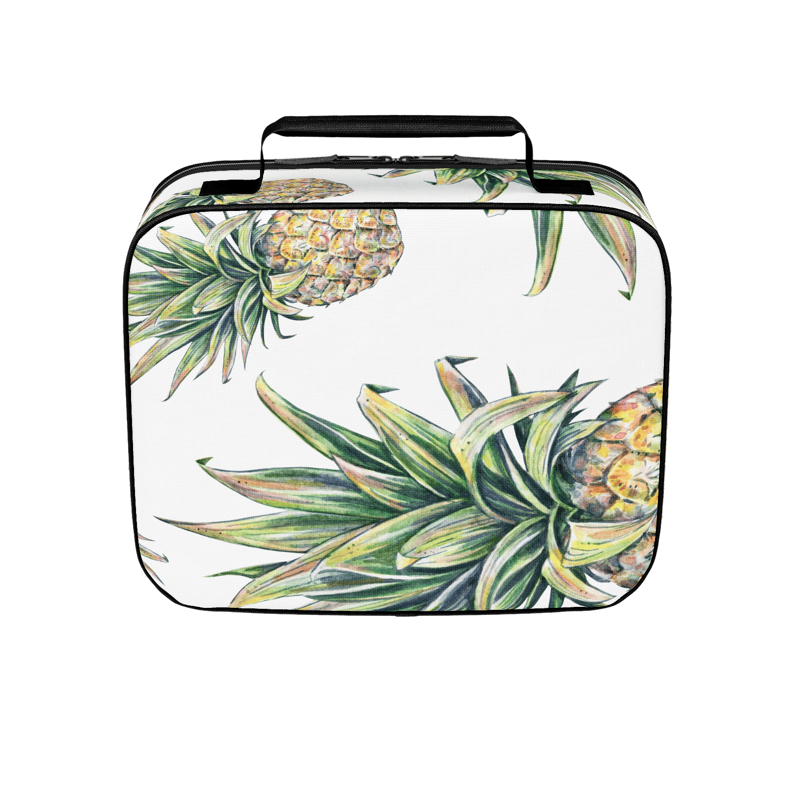 """PINEAPPLES"" Tropical Pattern Lunchbox"