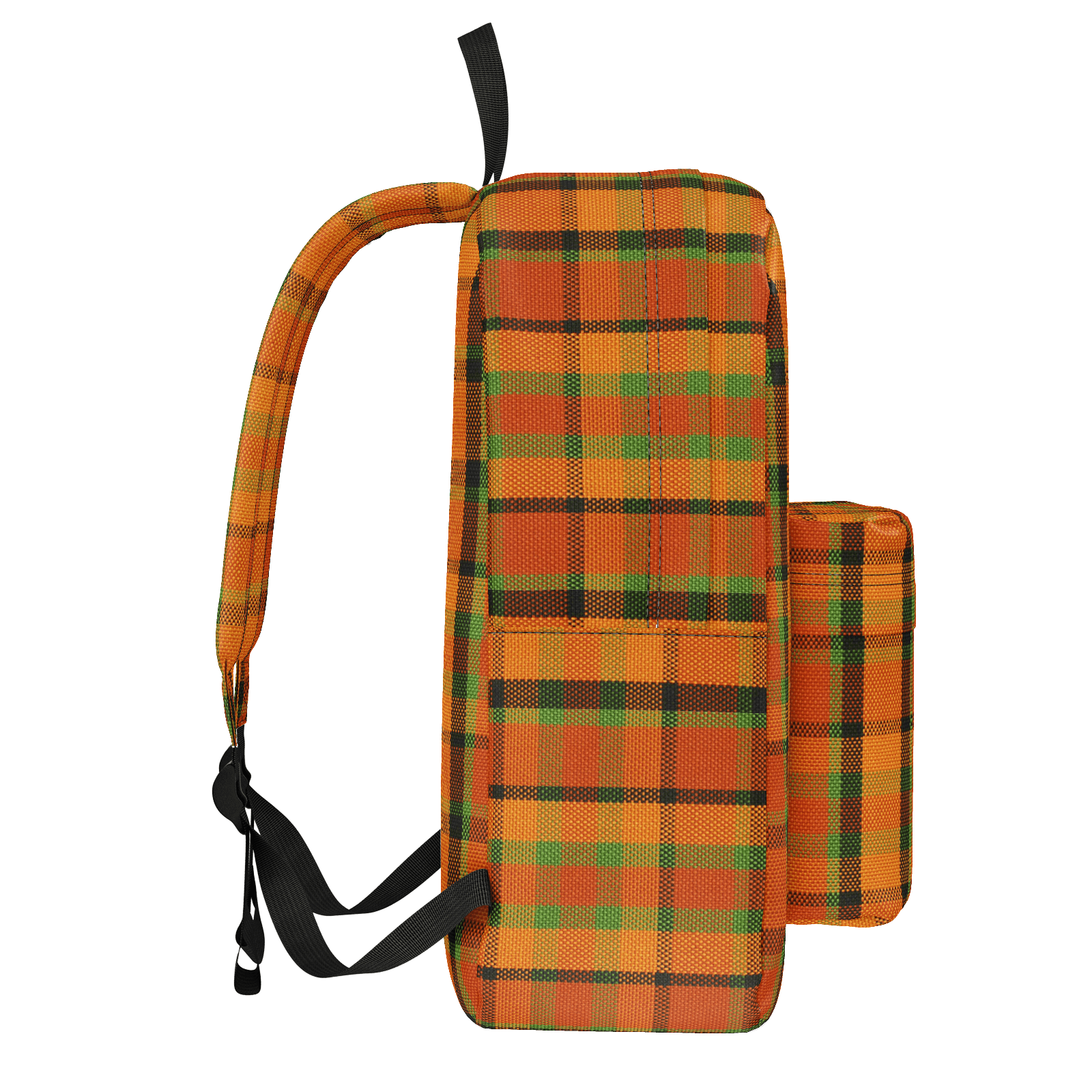 Westy Orange Plaid Backpack