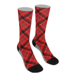 Rad Red Plaid Socks