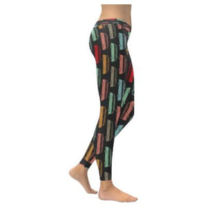 Bus Caravan Black Low Rise Leggings