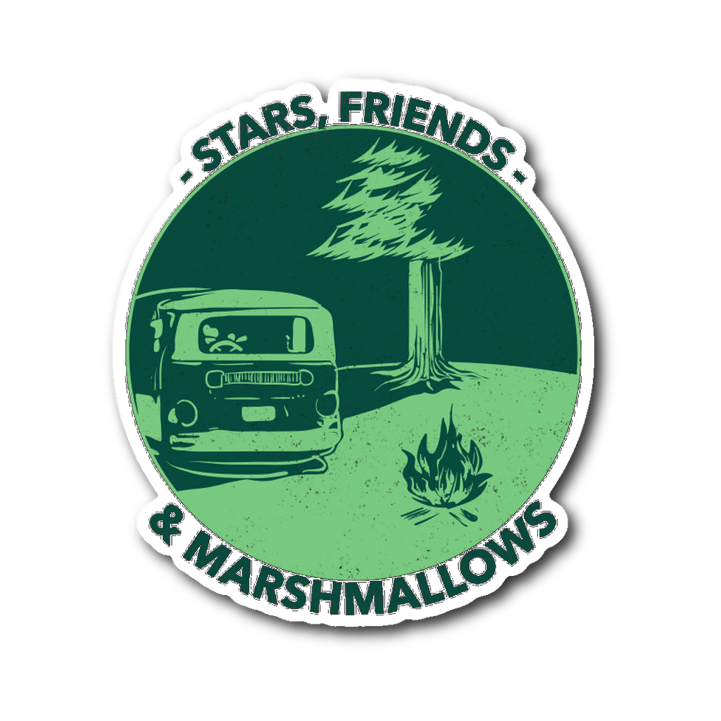 Stars, Friends and Marshmallows Sticker