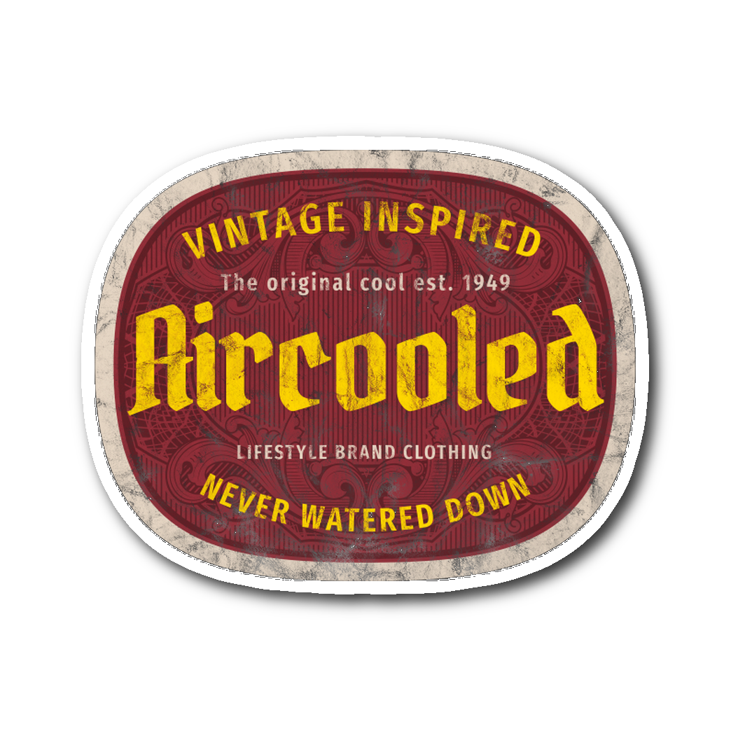 Aircooled Vintage Inspired Sticker