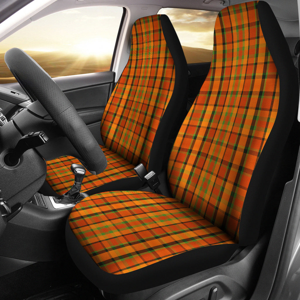 Orange Plaid Seat Covers