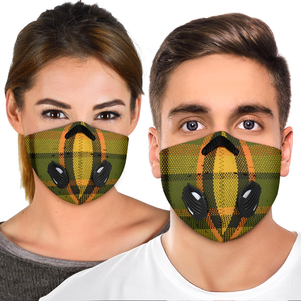 Westy Plaid Orange Premium Face Mask
