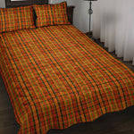 Westy Orange Plaid Quilted Bedding Set