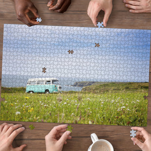 Meadow V-dub Bus Wood Jigsaw Puzzles