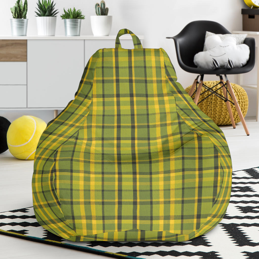 Green Plaid Bean Bag Chair