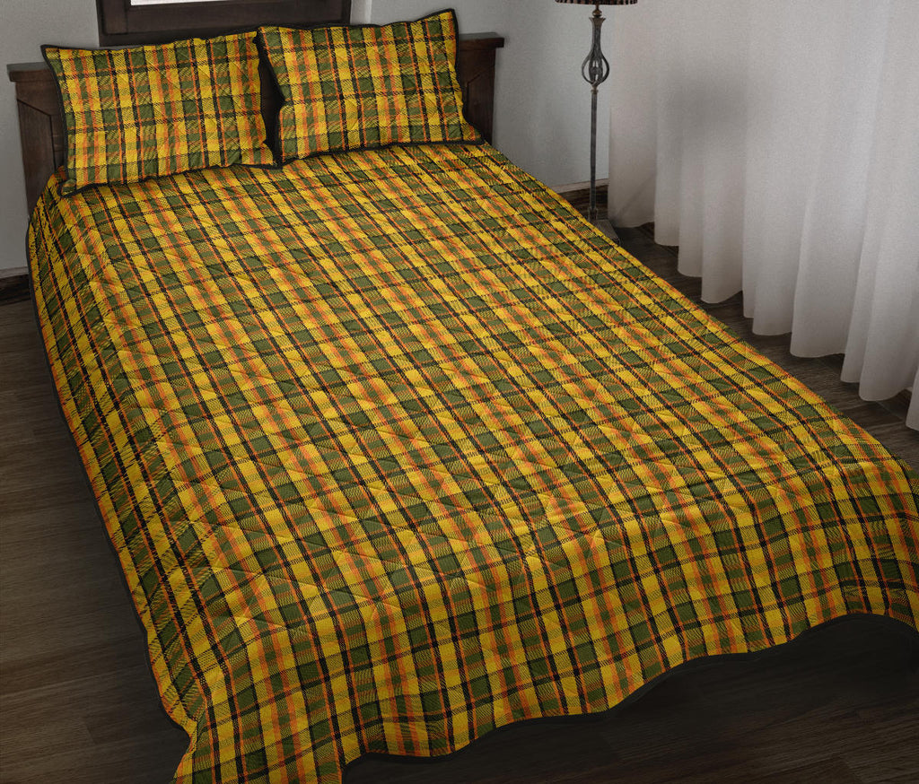Westy Yellow Plaid Quilted Bedding Set