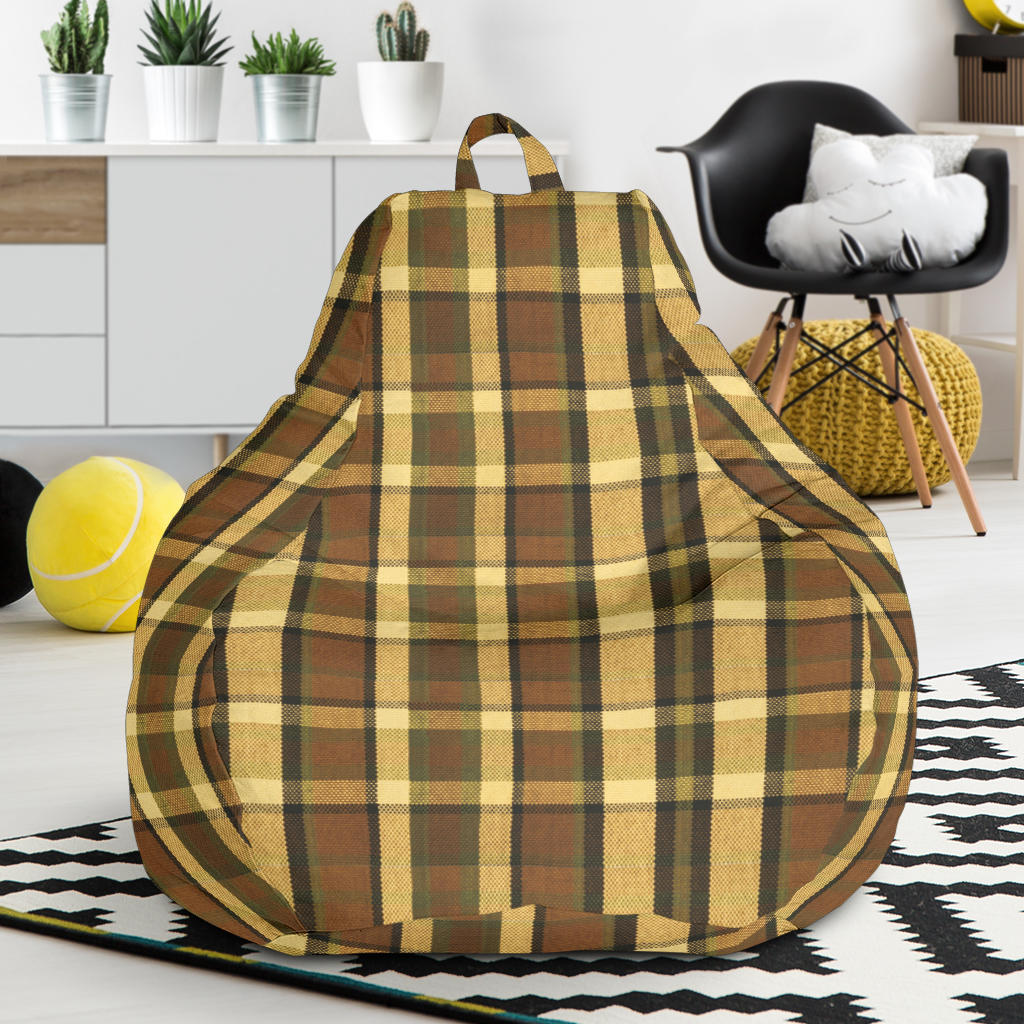 Brown Plaid Bean Bag Chair