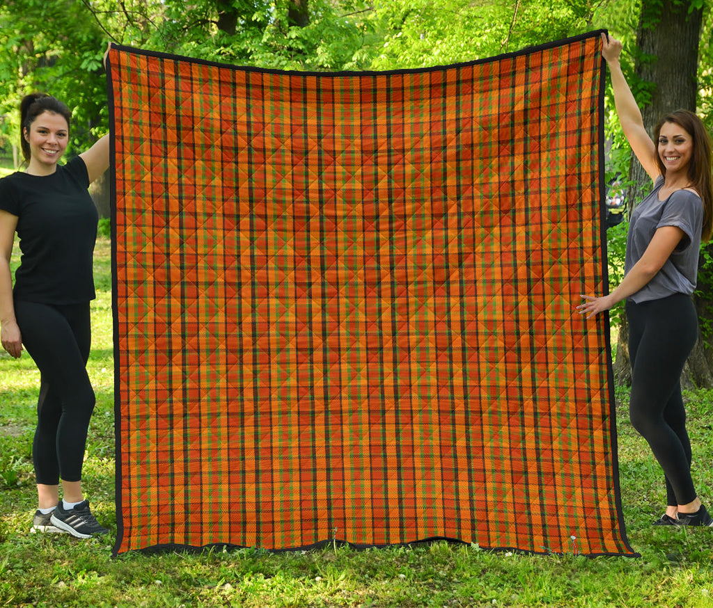 Orange Westy Plaid Quilt