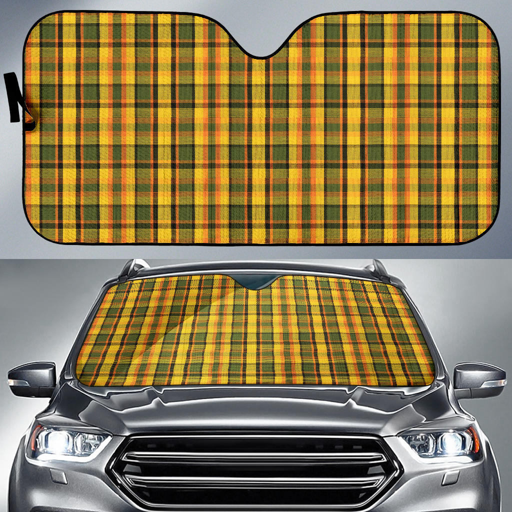 Yellow Plaid Sun Shade
