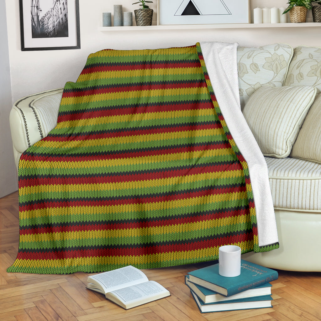 Jamaican Jam Fleece Blanket